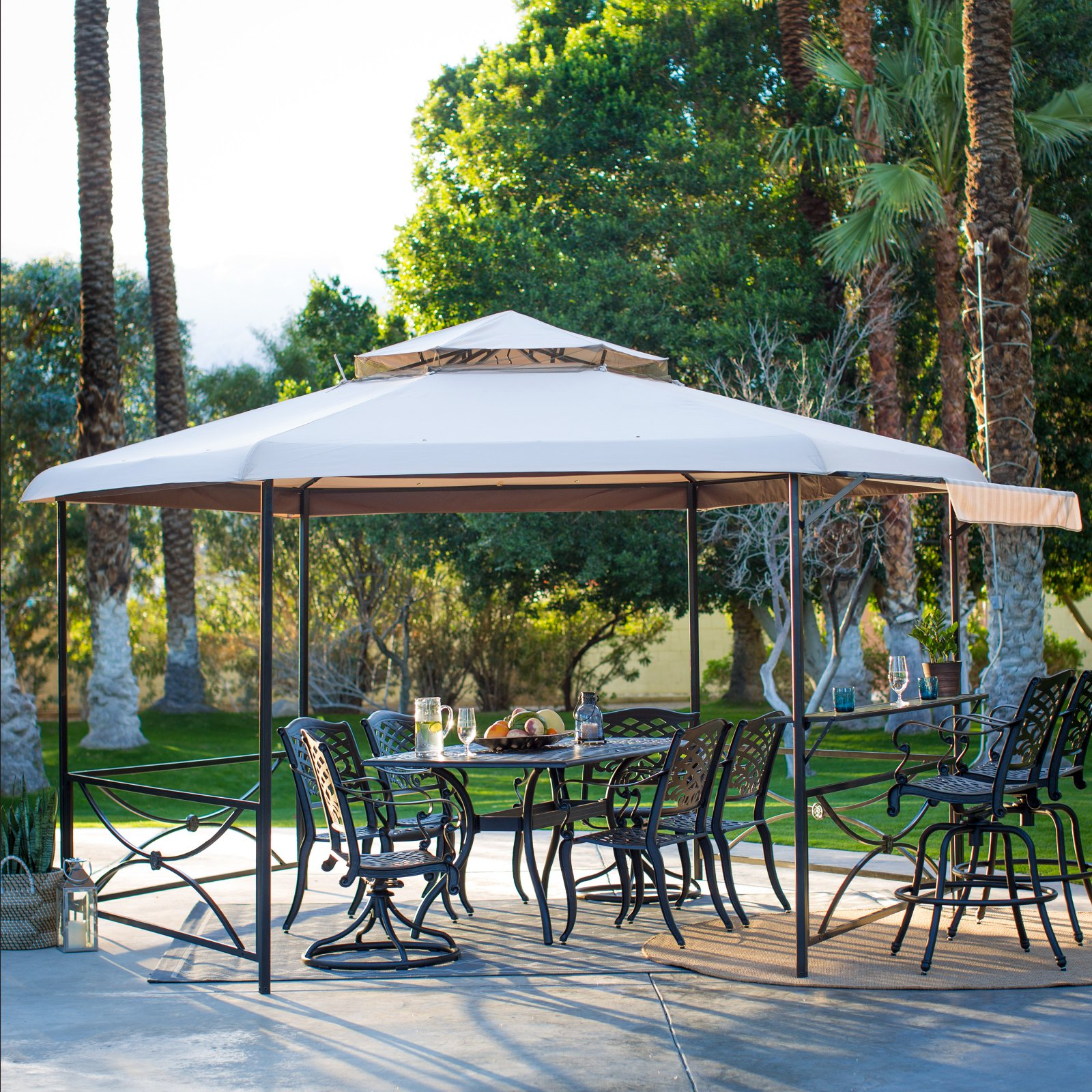 Belham Living Crawford 13 x 11 ft. Hexagon Gazebo Canopy by