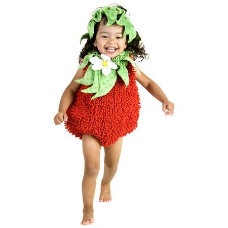 Toddler Suzie Strawberry with Headpiece Costume Princess Paradise 4698 - Strawberry Shortcake Baby Costume