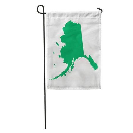 Bristol Bay One Light (KDAGR Green Abstract Map Alaska America Arctic Bay Bering Bristol Capital Garden Flag Decorative Flag House Banner 12x18 inch)
