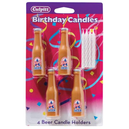 4 Beer Shaped Candle Holders Candles - Beer Bottle Candles