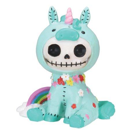 Furrybones Unie Skeleton in Unicorn Costume with Rainbow Halloween Figurine](Small Halloween Figurines)