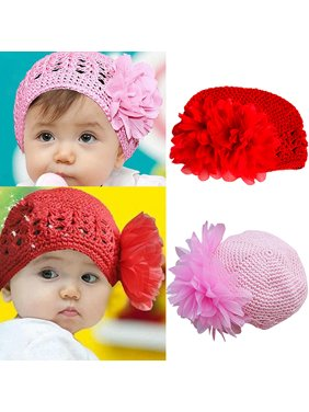 ad9b4ba8cf4 Product Image HiCoup Baby Toddler Beanie Hat Flower Hand Crochet Knit Cap  Kids Girls Winter Warm