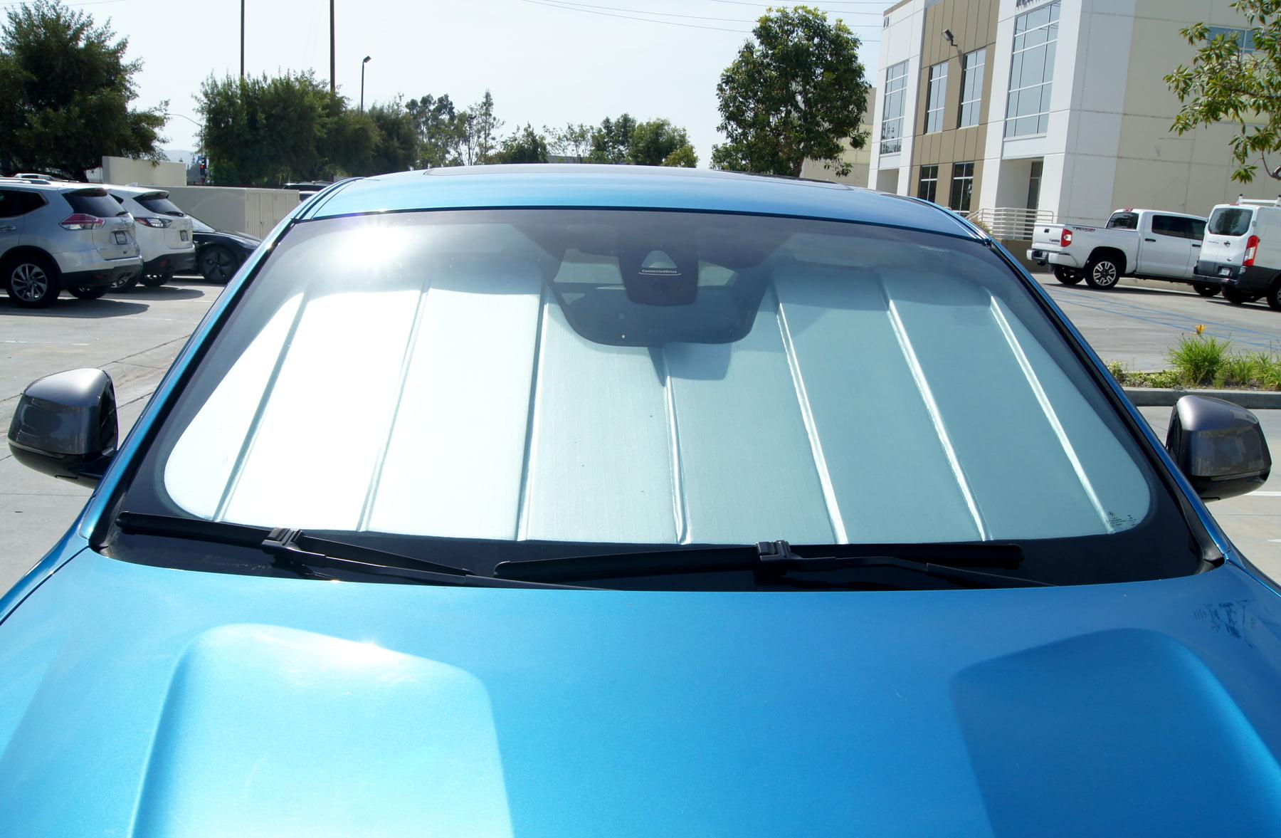 Sunshade Visor Silver /& Grey 1-pc Set Compatible With 2016-2019 Honda Civic Sedan 4 Door Tuningpros SS-132-2 Custom Fit Car Windshield Sun Shade Protector