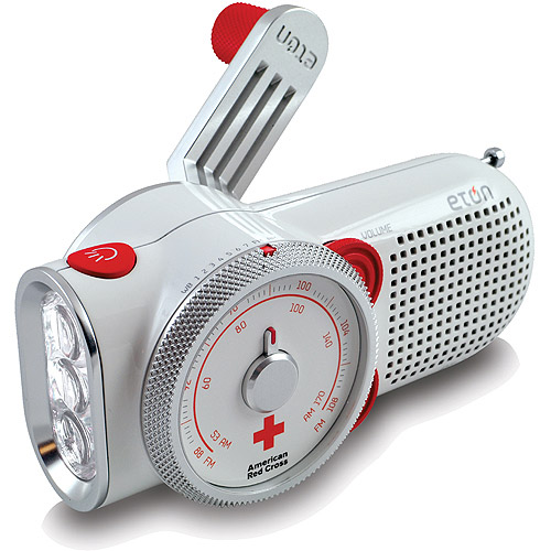 Eton ARCPT200W American Red Cross Rover Self-Powered Weather Radio with Flashlight and USB Cell Phone Charger