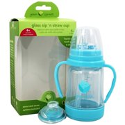 Green Sprouts - Glass Sip 'n Straw Cup Aqua - 4 oz.
