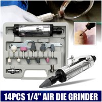 "90 PSI 1/4""+3mm 1/8"" Air Compressor Die Grinder+Shank Grinding Polishing Stones Spanner Kit 6mm With Rotary Tool Set"