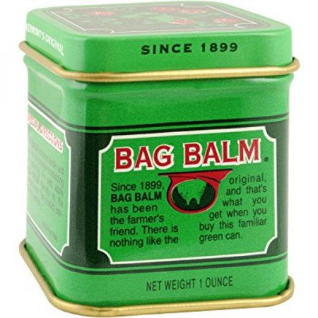Vermont's Original Bag Balm Skin Moisturizer 1 oz mini tin -For Dry Skin that can crack or split, Hands and Feet, Elbows, Knees, Lips, Cuticles, Dry Calloused or Rough