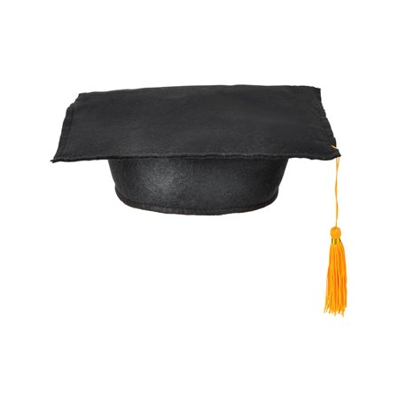 Child's Black Graduation Graduate Grad Cap Hat With Tassel Costume - Graduation Costume