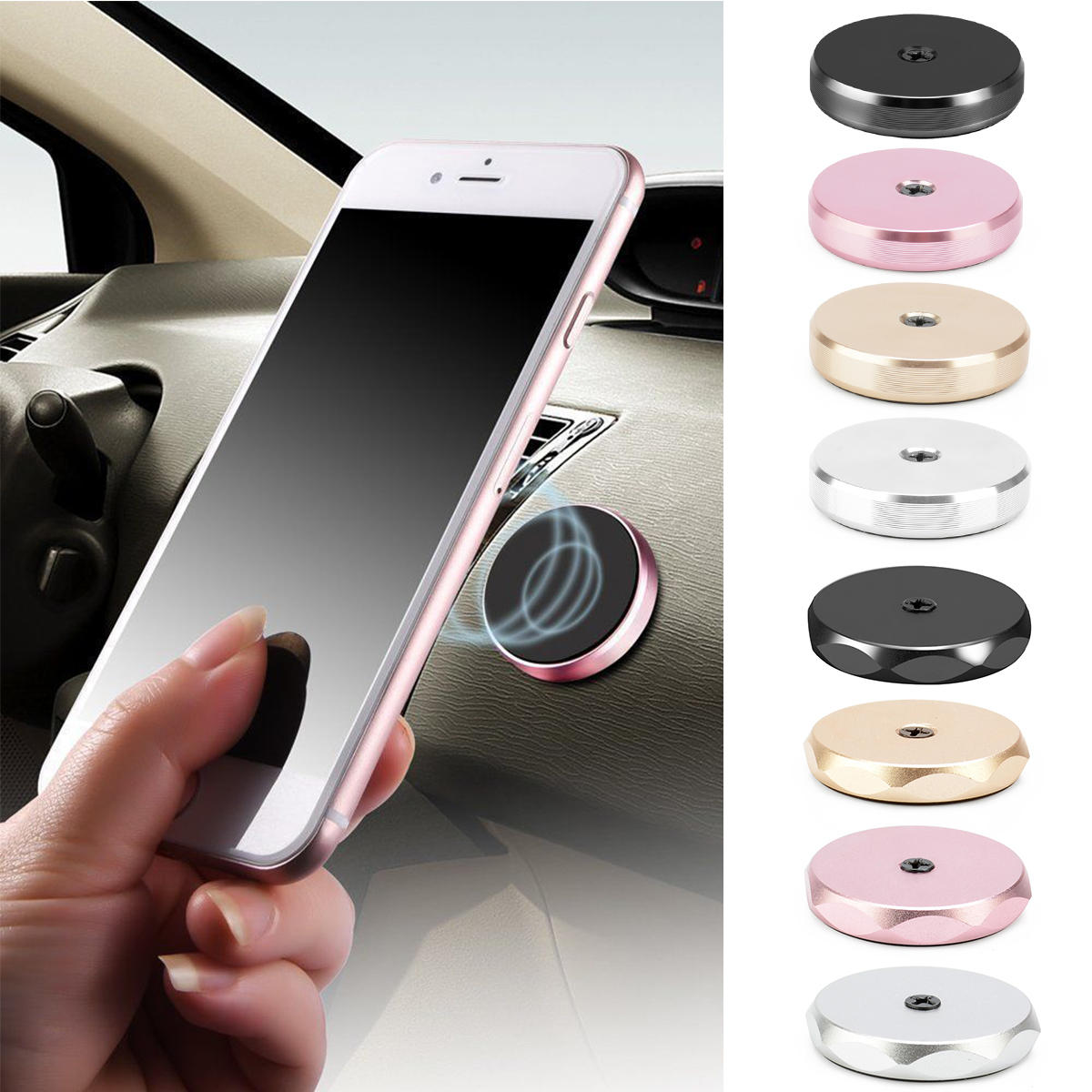 Auto Car Holder Mini Air Mount Magnet Magnetic Phone Mobile Holder Universal For iphone Samsung Car Holder