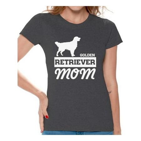 Awkward Styles Women's Golden Retriever Mom Graphic T-shirt Tops Dog Lover