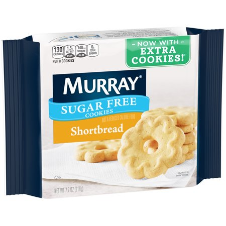(2 Pack) Murray Sugar Free Shortbread Cookies 7.7 oz. Pack - Premade Halloween Cookies