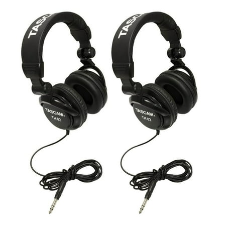 TASCAM TH-02B Foldable Recording Mixing Home Studio Headphones - Black (2