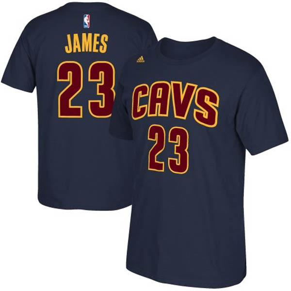 Cleveland Cavaliers Lebron James Adidas NBA Men Player T Shirt Blue