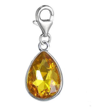 Birthstone Charm (Sexy Sparkles Clip on November Birthstone Dangling lobster clasp charms for bracelets )