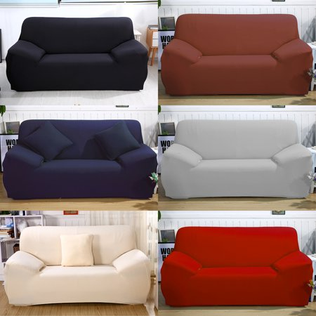 CLEARANCE! 2 Seater Stretch Sofa Slipcover Couch Cover Loveseat Cover  Elastic Sofa Cover Couch Pure Color Anti Wrinkle Sofa Furniture Protector  For ...