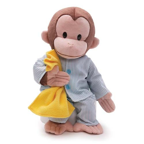 Curious George Pajamas 16-Inch Plush (Number of Pieces per case: 2) by