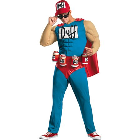 Simpson Halloween Costume (Simpsons Duffman Muscle Adult Halloween)