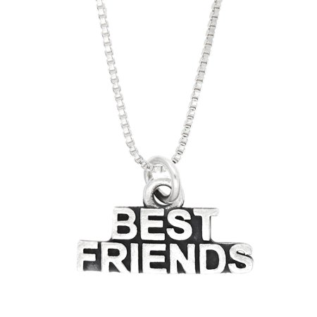 Sterling Silver Oxidized Word Best Friends (Best Way To Clean Sterling Silver Jewelry)