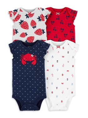 Child of Mine by Carter's Baby Girl Sleeveless Bodysuits, 4-Pack
