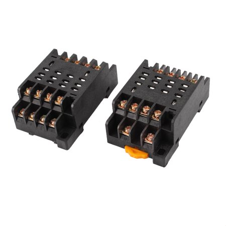 PTF14A 14 Pins 14P DIN Rail Mount Relay Socket Base 2pcs for HH64P - image 2 of 2