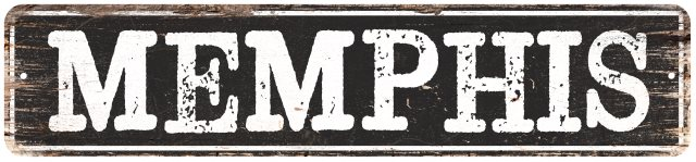 MEMPHIS Personalized Cities Metal Signs Home Decor Gift 4x18 104180004020