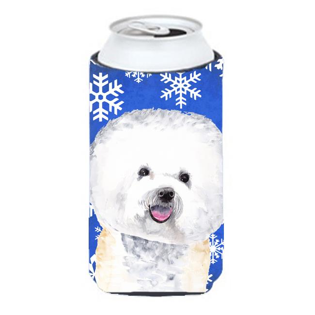 Bichon Frise Winter Snowflakes Holiday Tall Boy bottle sleeve Hugger - 22 To 24 oz. - image 1 of 1