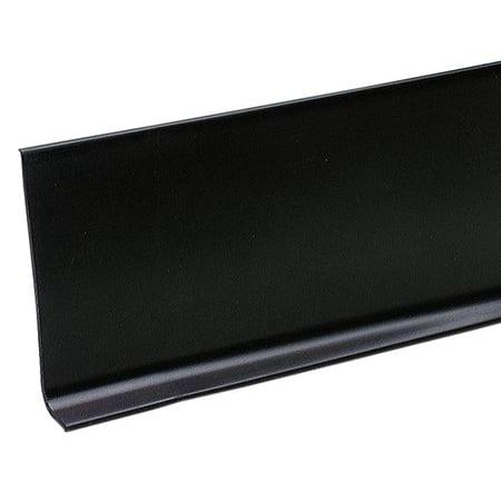 - ZORO SELECT 5MFJ6 Wall Base Molding,  Black, 48 In. L