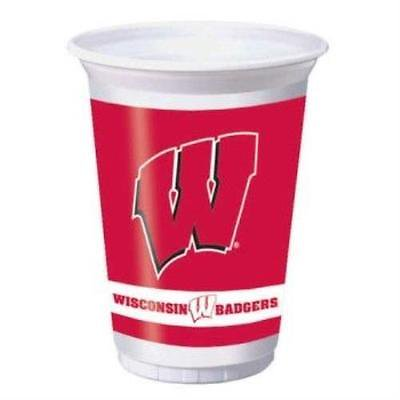 Wisconsin Badgers 20oz Plastic Cups , 2PK