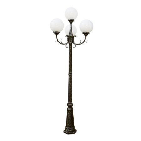 "Outdoor Post Light 4 Light Fixture With Swedish Iron Finish Cast Aluminum Medium 29"" 400 Watts"