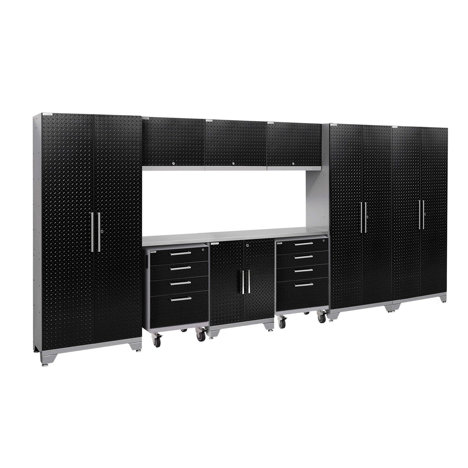 NewAge Products Performance 2.0 Diamond Plate 10 Piece Garage Cabinet System