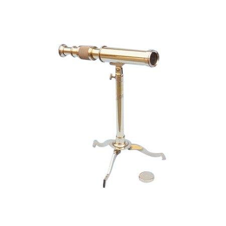 Floor Standing Brass Telescope on Stand 17