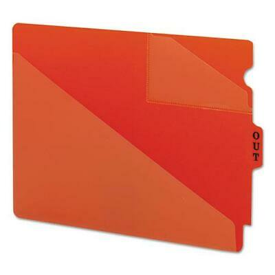 Out Guides with Diagonal-Cut Pockets, Poly, Letter, Red, 50/Box