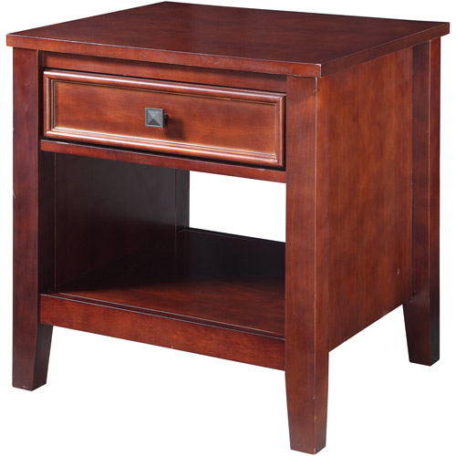 Linon Wander End Table, Cherry, 22 inches Tall