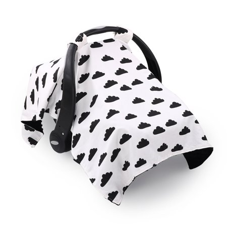 Black Cloud Infant Car Seat Canopy Cover By The Peanut Shell