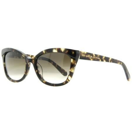 e2b051a2f9b2f Kate Spade New York - Kate Spade Amara S 0JBA Y6 Tortoise Women s Cat Eye  Sunglasses - Walmart.com