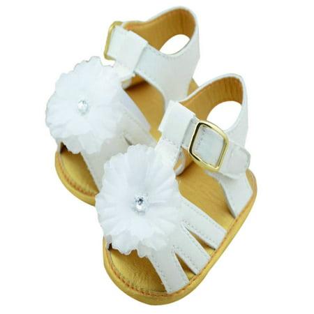 Toddler Baby Girl Soft Sole Flower Prewalkers Summer Sandals Outdoors Shoes - Flower Girl Sandals