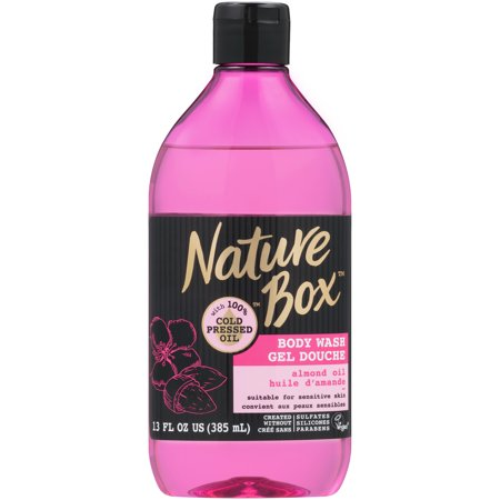 (2 pack) Nature Box Sensitive Skin Body Wash - with 100% Cold Pressed Almond Oil, 13 Ounce