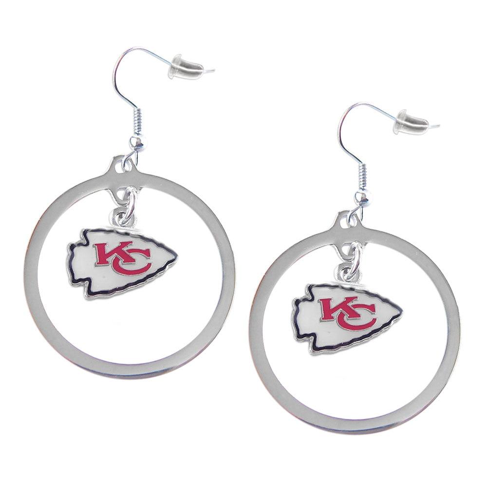 NFL Sport Team Kansas City Chiefs Hoop Earrings Dangle