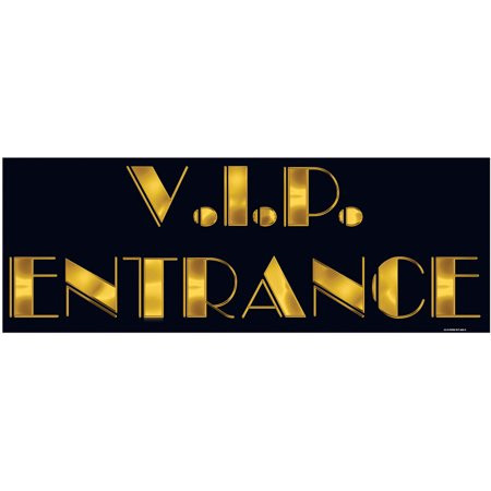 2 Sided Decoration (VIP Entrance Sign Celebration Party 2 Sided Wall Poster Banner Flag Decoration )