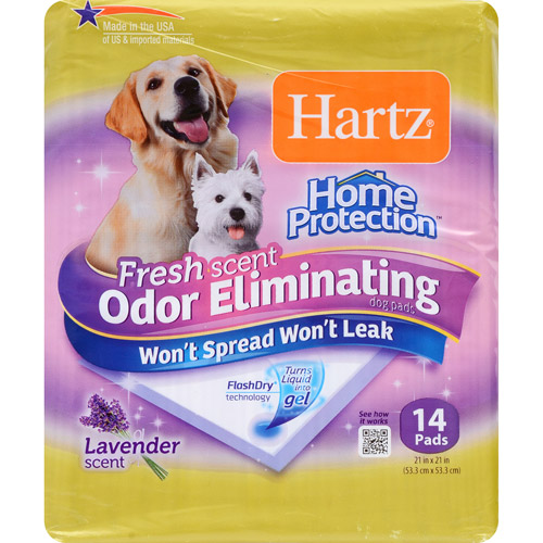 Hartz Home Protection Odor-Eliminating Dog Pads, 14 ct