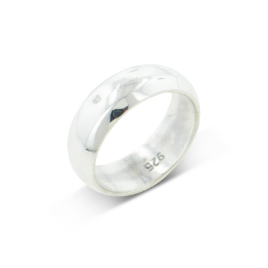 Solid Sterling Silver 6mm Wedding Band Ring