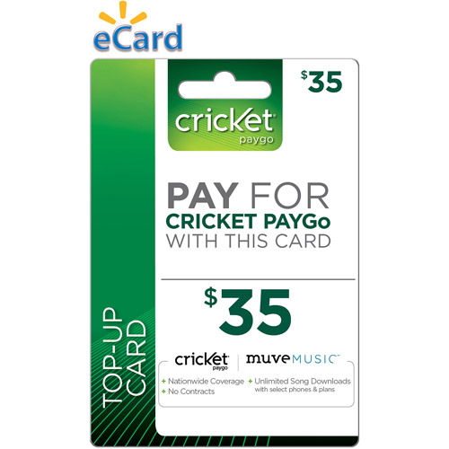 Cricket PayGo $35 (Email Delivery)