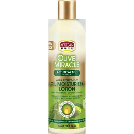 African Pride Olive Miracle Anti-Breakage Formula Maximum Strengthening Moisturizer Lotion 12 fl. oz.