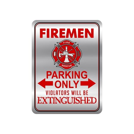 Firefighter Metal Signs for Your House, Novelty 12 x 9 Metal Signs, Firemen Only Metal Signs for Home for Outdoor and Indoor Decor,Tin Signs for Fire Fighters, Funny Kitchen Signs - Horse Novelties
