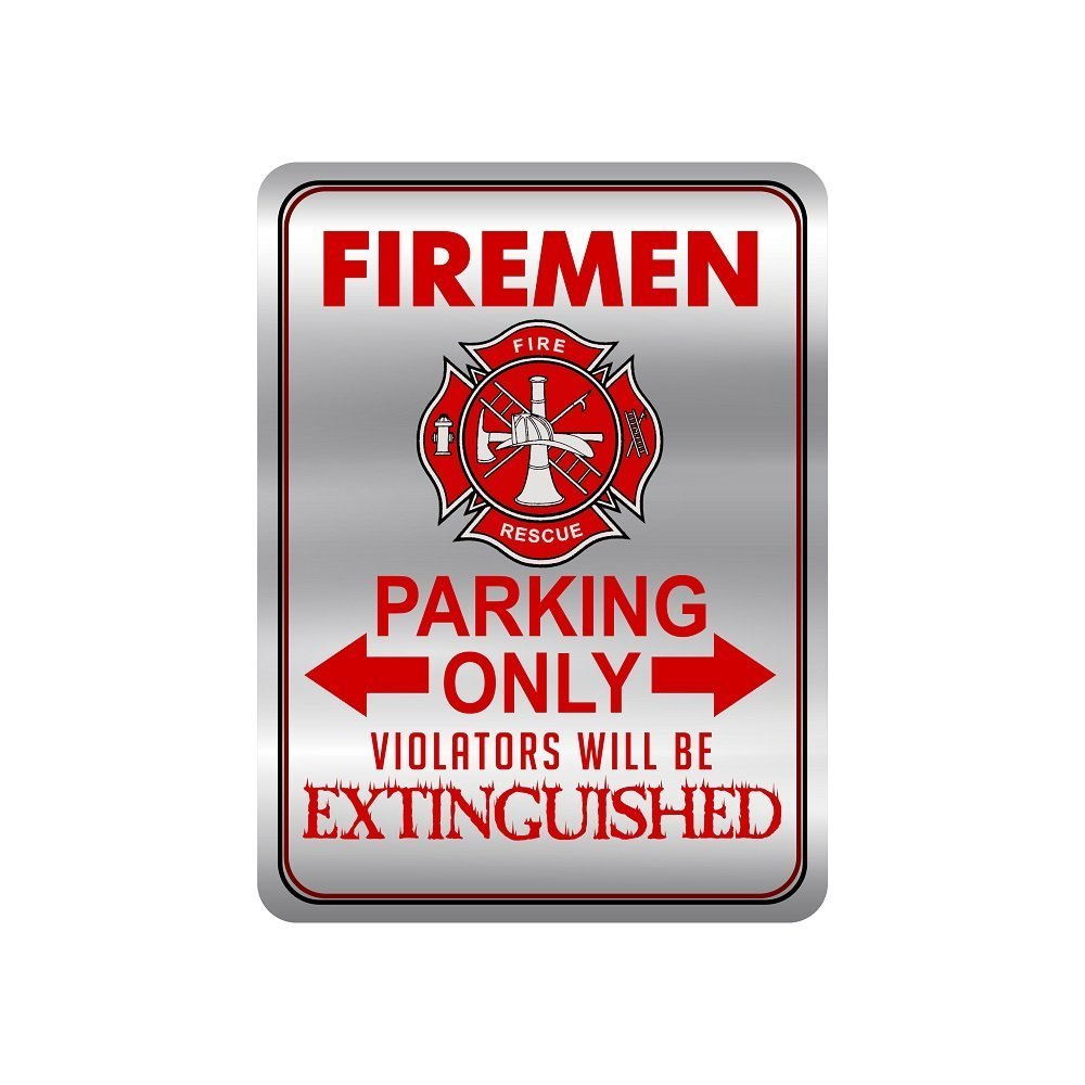 Firefighter Metal Signs For Your House, Novelty 12 X 9 Metal Signs, Firemen  Only Metal Signs ...