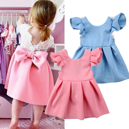 Summer Toddler Baby Kids Girls Dresses Kids Ball Gown Party Dress Sundress - Toddler Ball Gown