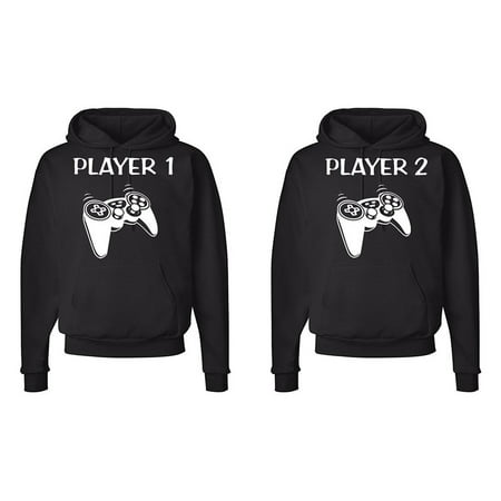 Comfy Hoodie Set - FASCIINO Matching His & Hers Couple Hoodie Sweatshirt Set - Player 1 and Player 2 Gamer