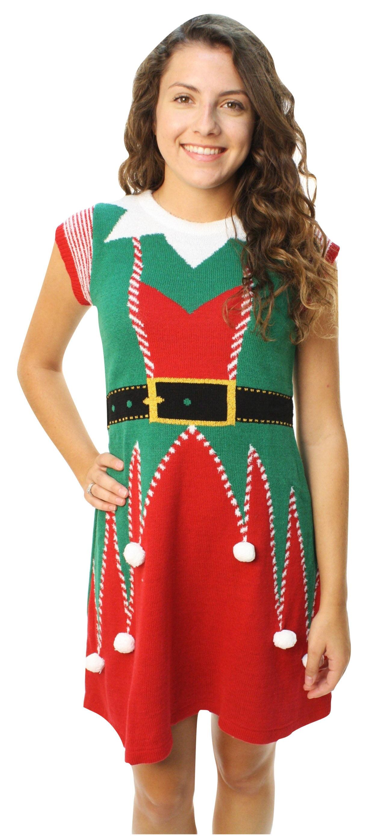 Ugly Christmas Sweater - Ugly Christmas Sweater Junior\'s 3D Pom Pom ...