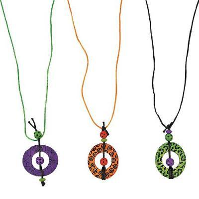 IN-13704043 Circle Halloween Necklace Craft Kit