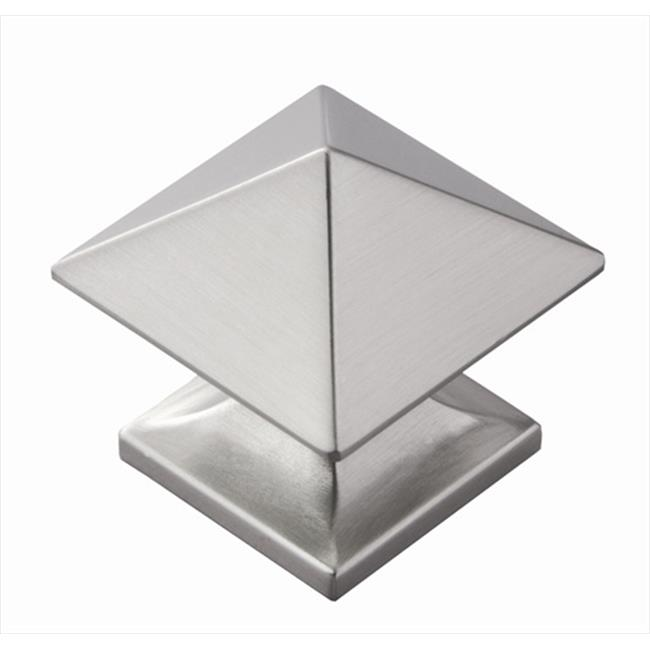 Hickory Hardware P3015-SN 1.25 In. Square Studio Collection Satin Nickel Cabinet Knob